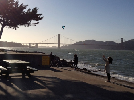 Golden Gate and kite