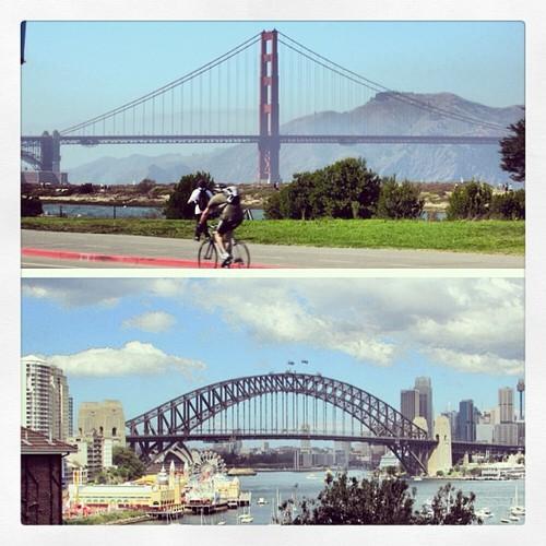 The Golden Gate Bridge vs the Harbour Bridge