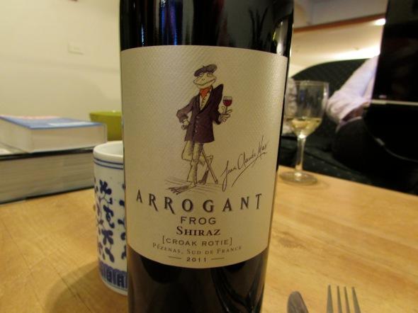 French wine tag, arrogant frog