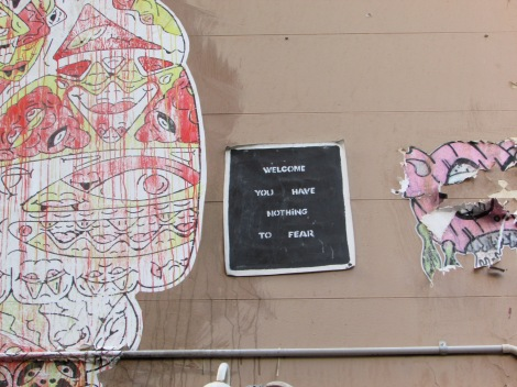 Welcome to Hosier Lane...You have nothing to fear..