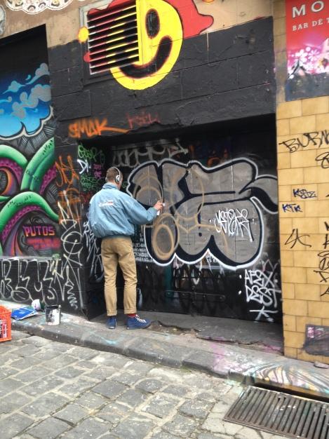 Tagging in Hosier Lane