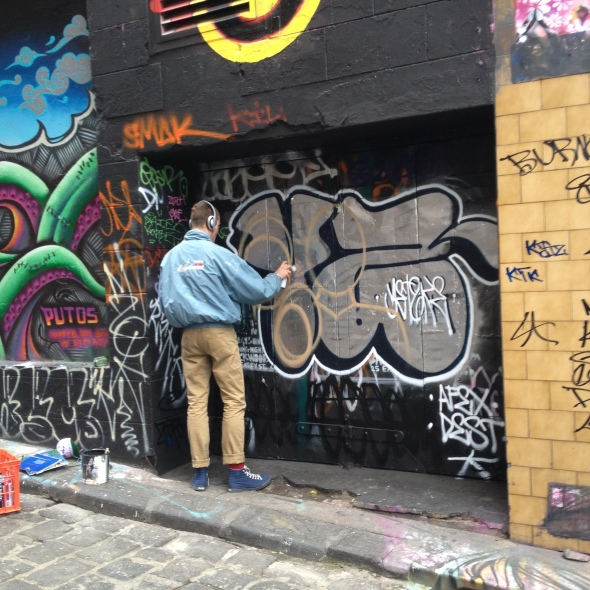 Tagging in Hosier Lane